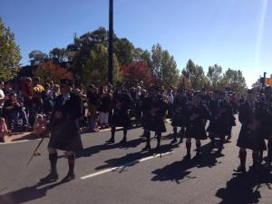 AWPD on the march at the Wodonga ANZAC Day March - photo courtesy of Radio 2AY http://www.2ay.com.au