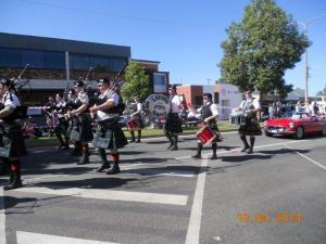 Leeton Rice Festival - the engine room on the march