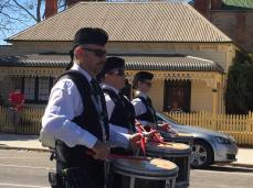 Side drummers in action